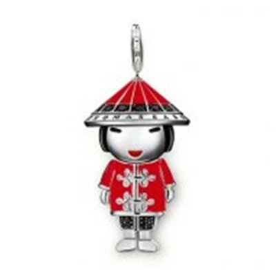 New Arrival  Wholesale Free shipping tms silver maste pendant charm TS Chinese-look Doll Charm TMS style charm club