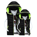 2016 New Winter Gilet Men Cotton Vest Male Korean Slim Hooded Down Cotton Warm Vests Mens Vest Jacket