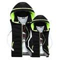 2016 New Winter Gilet Men Cotton Vest Male Korean Slim Hooded Down Cotton Warm Vests Mens Vest Jacket
