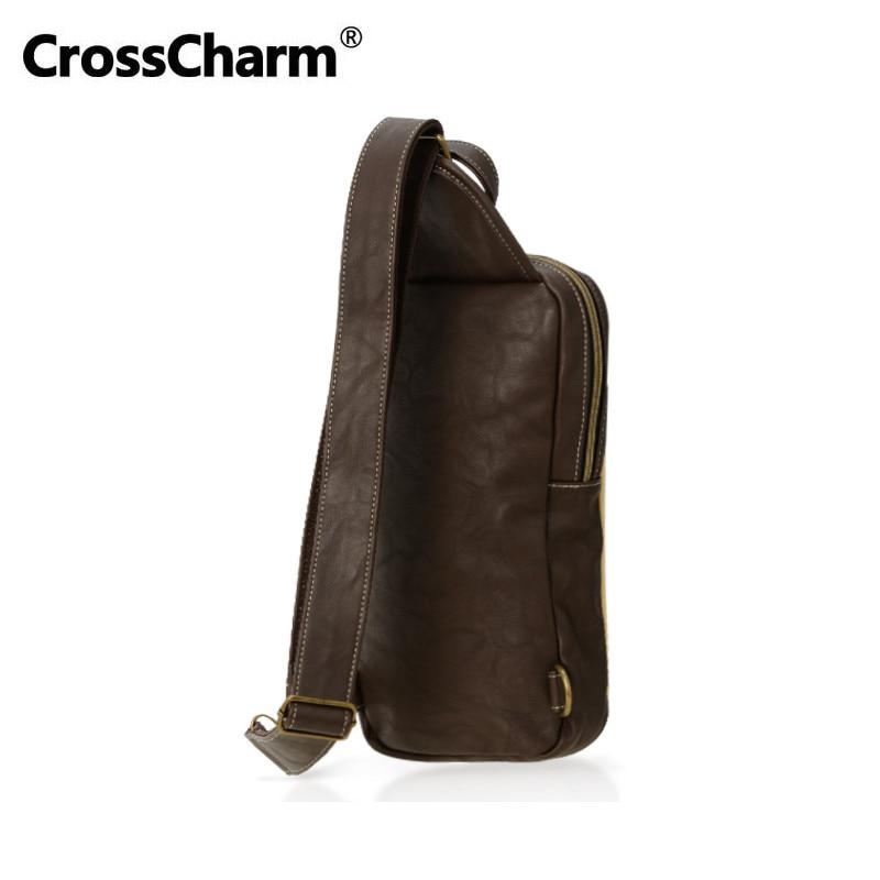 CrossCharm Kişi Çantası Microfiber Dəri Xaç Sling Messenger - Çantalar - Fotoqrafiya 2