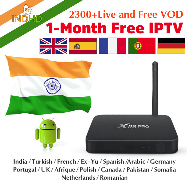 IPTV India Italia 1 mes gratis IP TV X98Pro Turquía Ex Yu árabe Canadá IPTV suscripción Smart Box África indio IPTV Italia IP TV