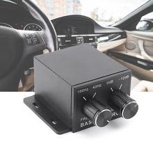 Автомобильный регулятор аудио усилитель бас сабвуфер стерео эквалайзер контроллер 4 RCA