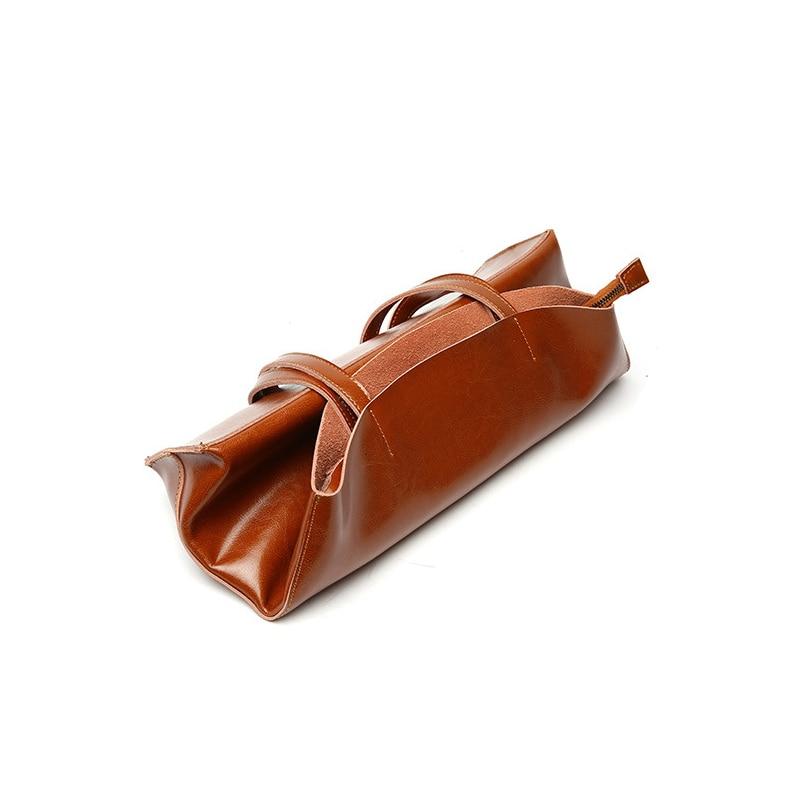 DIENQI doux en cuir véritable femme sacs à bandoulière 2018 grande capacité Vintage femmes en cuir sacs à main pour fête rétro fourre tout Sac-in Sacs à bandoulière from Baggages et sacs    3