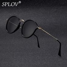 Nowy przyjazd okrągły okulary przeciwsłoneczne retro mężczyźni kobiety Brand Designer okulary Vintage lustrzane okulary tanie tanio Sunglasses W SPLOV UV400 lustro antyrefleksyjne polaryzowane Gradient 45mm Kot oko SP2030-1 48mm Plastikowe Dorosłych