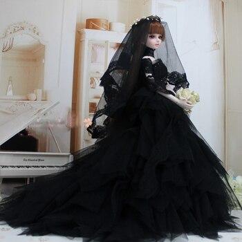 Cateleya Dress wedding evening dress 1/3 1/4 BJD SD doll dress black wedding dress