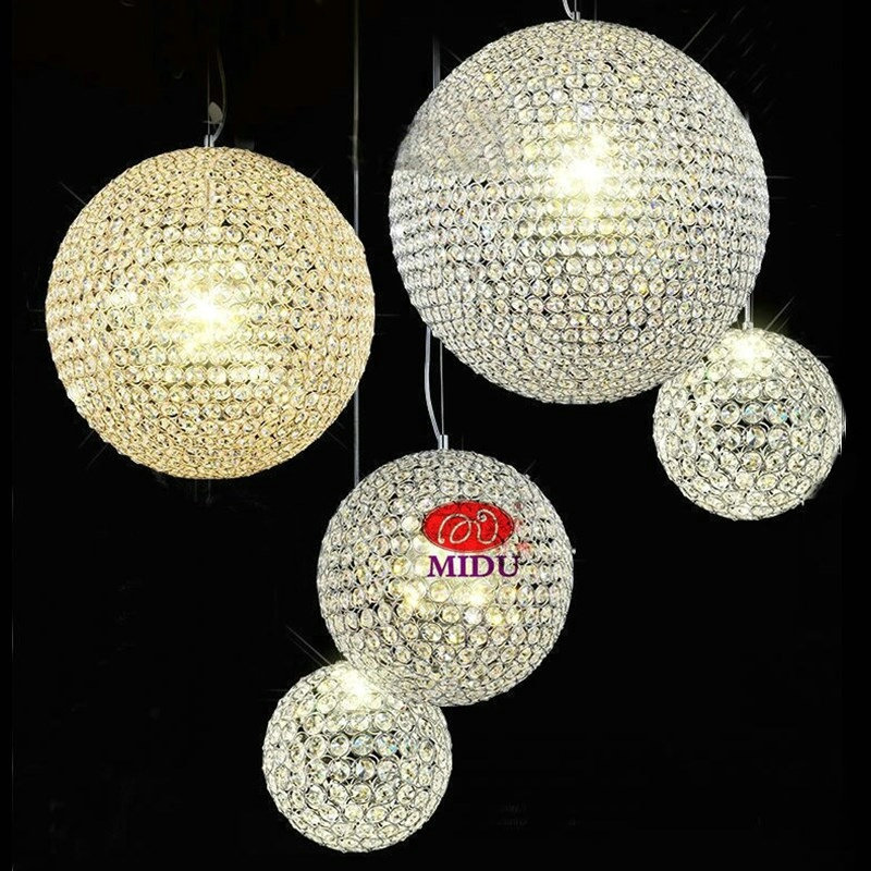 Free shipping silver or gold color big ball crystal pendant lamp  lighting fixture for living room bedroom study  r110V /240V 2016 new golf club putter men s gold silver 33 34 35inch can pick up the ball free shipping