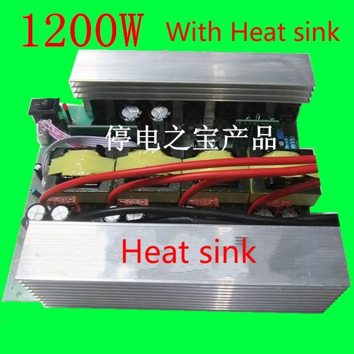 ФОТО High Power 1200W Solar Power Inverter Power Supply Car Inverter 12V To 220V With Heat sinks