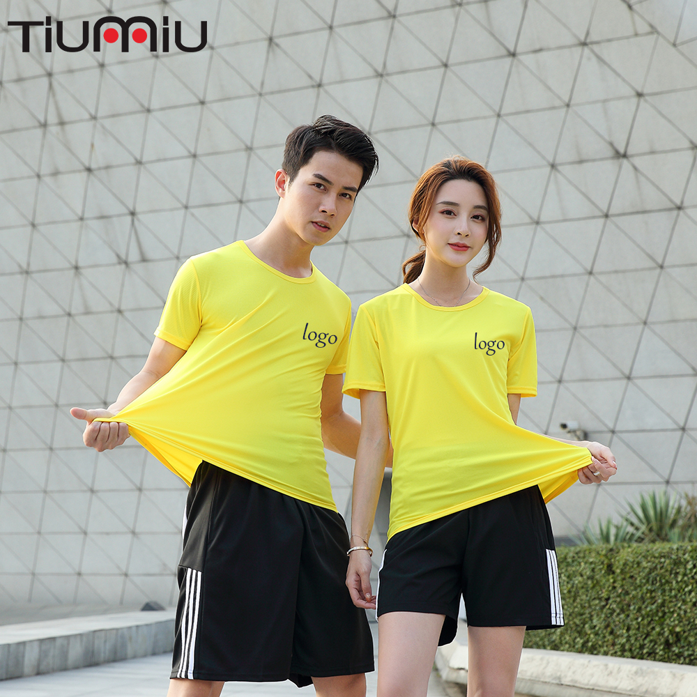 Quick-drying  Wholesale Ice Unisex Fitness Logo Custom Dance Short-sleeved Shirt Top Hotel Catering Waiter Work Uniform