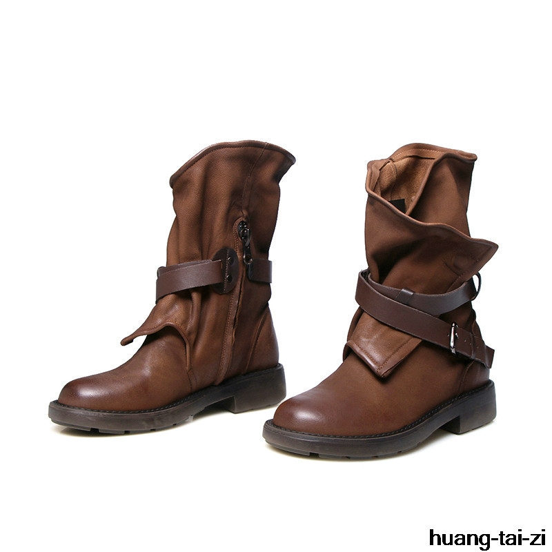 Huangtaizi mode d'équitation femme bottes nouvelle hiver dames z4RxqwO45