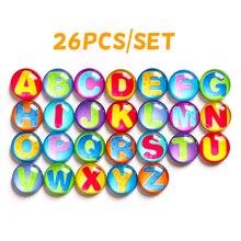 26pcs majuscule alphabet crystal 37MM Fridge Magnet Refrigerator For Home Decor Kitchen Gadgets Best Birthday Gift for Kids