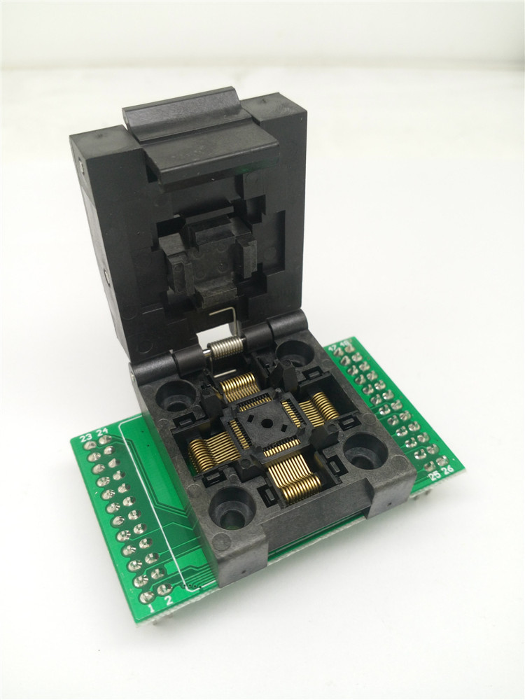 FPQ-48-0.5-06 Test Socket Adapter QFP48 TQFP48 LQFP48 to DIP48 Clamshell Programming Socket Pitch 0.5mm IC Body Size 7x7mm tqfp48 to dip48 programmer adapter qfp48 ic test socket 1pin to 1pin pitch 0 5mm size 7mmx7mm 9mm 9mm
