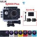 Original SJCAM SJ5000 Plus WiFi Waterproof Sports Action Camera Sj 5000 Plus Cam DV With Extra 2 Battery+ Dual Charger+Monopod
