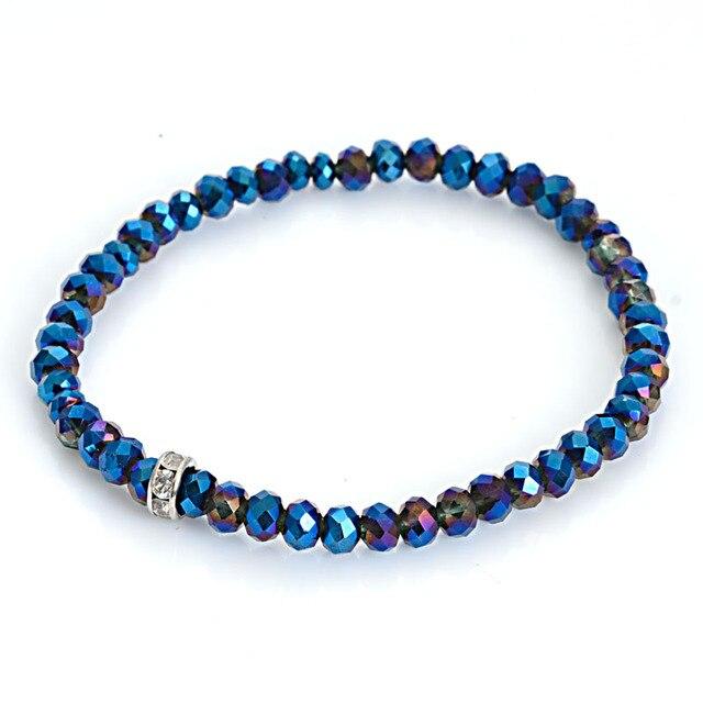 Colorful New Arrived Style Glass Crystal Beaded Bracelets Rope Distance Bracelet