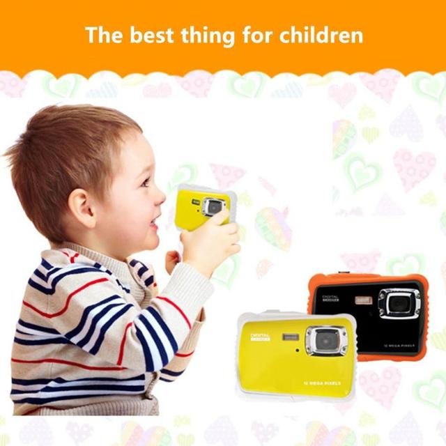 ALLOET Mini Cartoon 2.0″ Child Kids Digital Camera 4X Zoom 12MP 720P 3m Waterproof Camcorder Video Recorder W/ Mic Children Gift