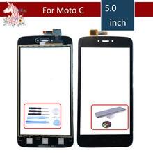 10pcs/ For Motorola Moto C XT1750 XT1755 Moto C Plus XT1721 XT1723 XT1724 Touch Screen Digitizer Sensor Outer Glass Lens Panel силиконовый чехол pero для moto c plus xt1723 прозрачный
