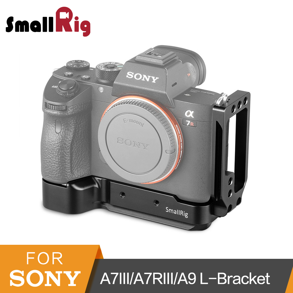 US $59 61 11% OFF|SmallRig A7M3 A7R3 L Bracket For Sony A7SIII A7III A7RIII  A9 Arca Swiss Standard L Plate Mounting Plate 2122 -in Tripod Monopods
