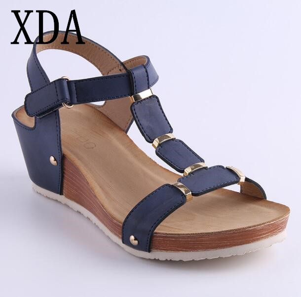 497153731 XDA Women Sandals 2018 Platform Sandals Wedges Shoes Women Heels Sandals  Summer Shoes Roman Wedge comfort Sandals F291