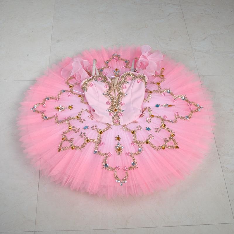 New professional ballet dance costume tutu women & girl stage ballet tutu ballerina dance costume tutu pancake tutu