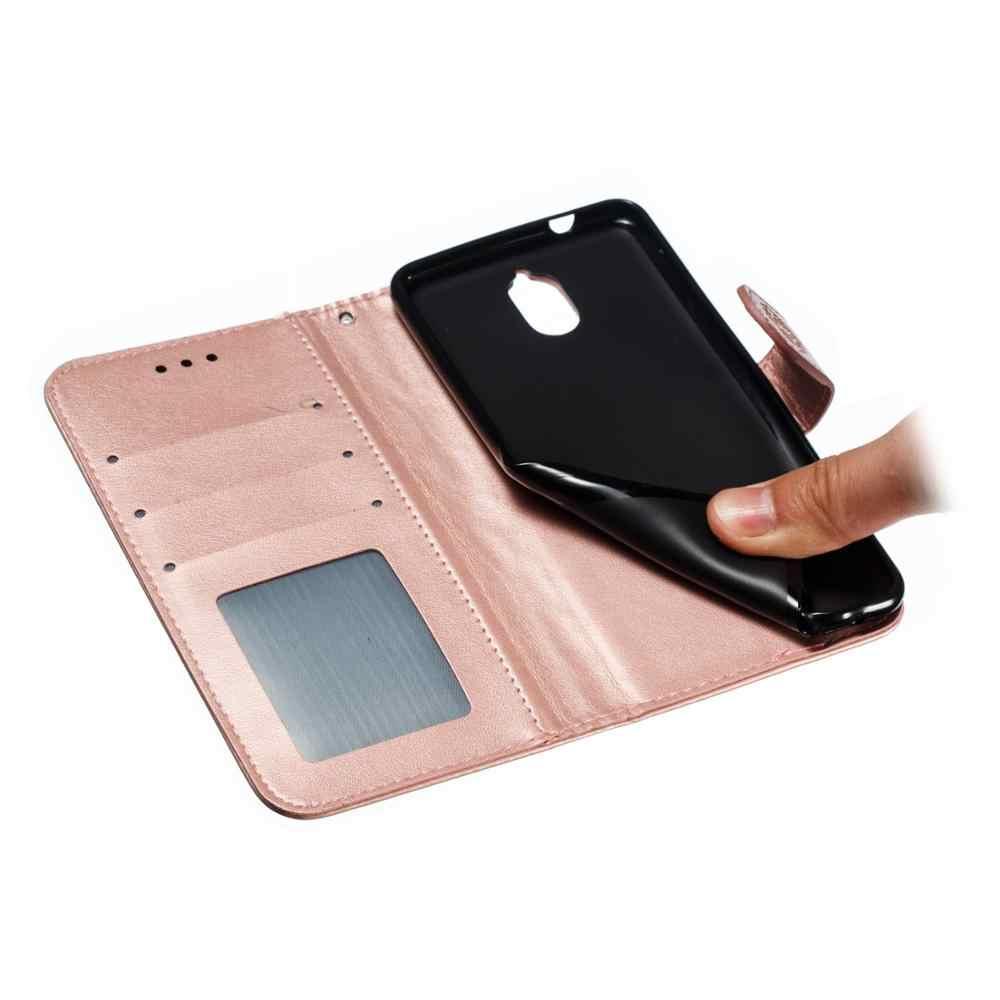محفظة قلابة حالة لنوكيا 2 2.1 3 3.1 5 5.1 6 6.1 7 زائد 7.1X5X6 2018 غطاء هاتف قلاب من الجلد غطاء