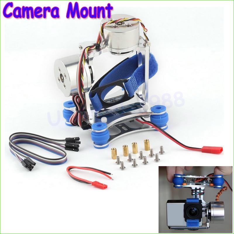 1pcs Camera Mount CNC Brushless Gimbal PTZ Motors Controller for GoPro Cameras for  Phantom Wholesale Dropship стоимость