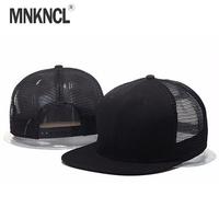 2018 New Styles Blank Mesh Camo   Baseball     Caps   Black Hip Hop Hats Mens Women Casquettes Bboy Gorras Bones Snapback Solid Hat