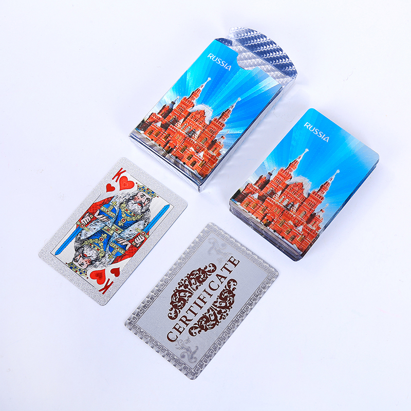 36pcs Russia Style-03 Playing Cards PVC Waterproof Creative gift Poker cards Plastic durable and diamon Standard game cards