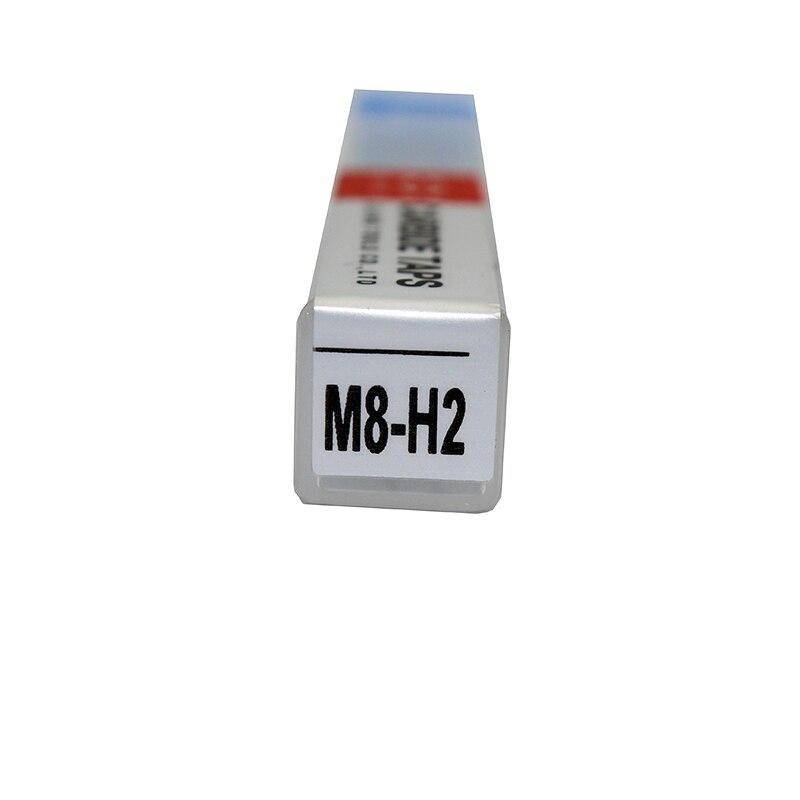1 pc M8 robinet en carbure monobloc rainure droite M8 H2 filetage robinet à vis bouchon métrique robinet à main outils à main