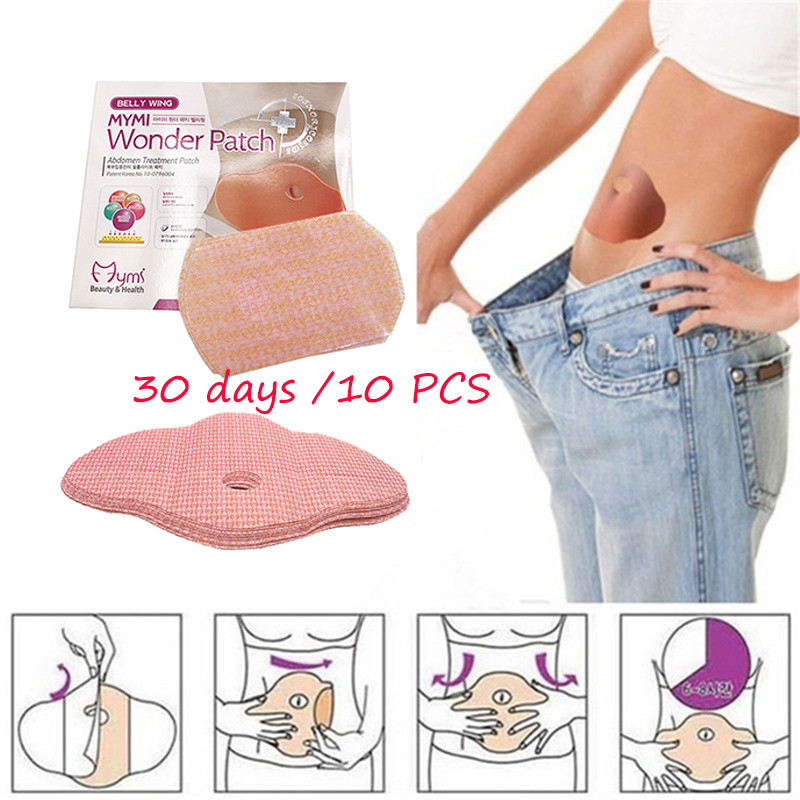 10Pc Face Lift Tool Mymi Wonder Patch Quick Slimming Patch Belly Slim Patch Abdomen Fat Burning Navel Stick Weight Loss Slimer