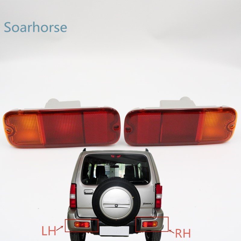 Car rear bumper fog lamp Tail Brake Reflector Light without bulb For Suzuki Jimny 2007 2008 2009 2010 2011 2012 2013 2014 2015 + rear driver passenger side tail light brake lamp for nissan patrol gu 4 5 6 7 8 2005 2006 2007 2008 2009 2010 2011 2012 2016