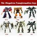 Megatron transformación juguetes autobots optimus prime bumblebee//ironhide/megatron/skyhammer para niños figuras de acción de navidad