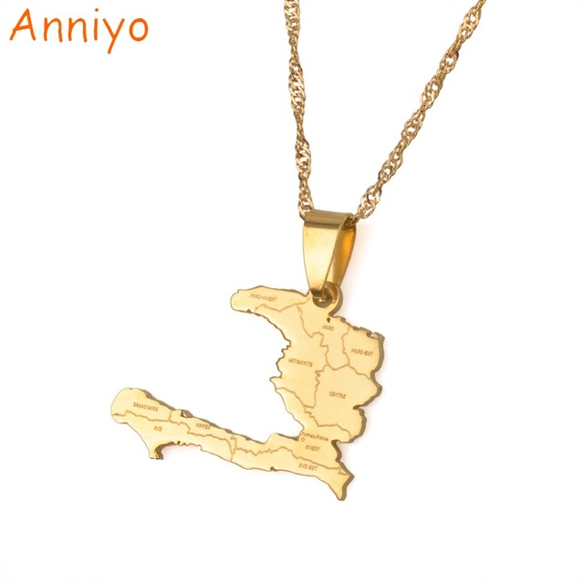 Anniyo haiti country map with state name pendant necklaces for anniyo haiti country map with state name pendant necklaces for womengirlsayiti aloadofball Images