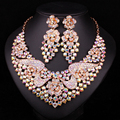 Fashion Bridal Jewelry Sets Wedding Party Accessories White Rhinestone Necklace Earring For Brides Accessories Gift For Women