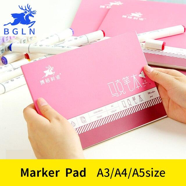 BGLN A3/A4/A5 profesional de pintura y dibujo papel marcador dibujo marcador de libro para los estudiantes de la escuela artista suministros