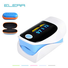 Digital finger oximeter, OLED pulse oximeter display pulsioximetro SPO2 PR oximetro de dedo,oximeter a finger with carrying case(China)