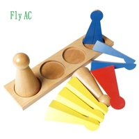 Fly AC Montessori mathematics teaching Kids Wooden Geometric Shape fraction Pattern Color Cognitive and Matching Toy