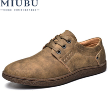 MIUBU 2019 new mens Casual Shoes Lace-up Breathable fashion spring autumn Flats fashion Male shoes Hot Sale Loafers shoes amaginmni 2018 new mens casual shoes lace up breathable fashion spring autumn flats fashion male shoes hot sale loafers shoes