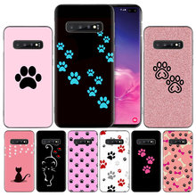 cat Dog paw designSilicone Case Cover for Samsung Galaxy A50 A70 A40 A30 A20 A20e A10 A9 A8 A7 A6 Plus 2018 M30 M20 M10 Note 8 9(China)