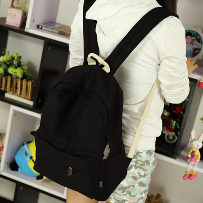 Pretty style candy color design canvas simple women backpack middle school student book bag leisure backpack
