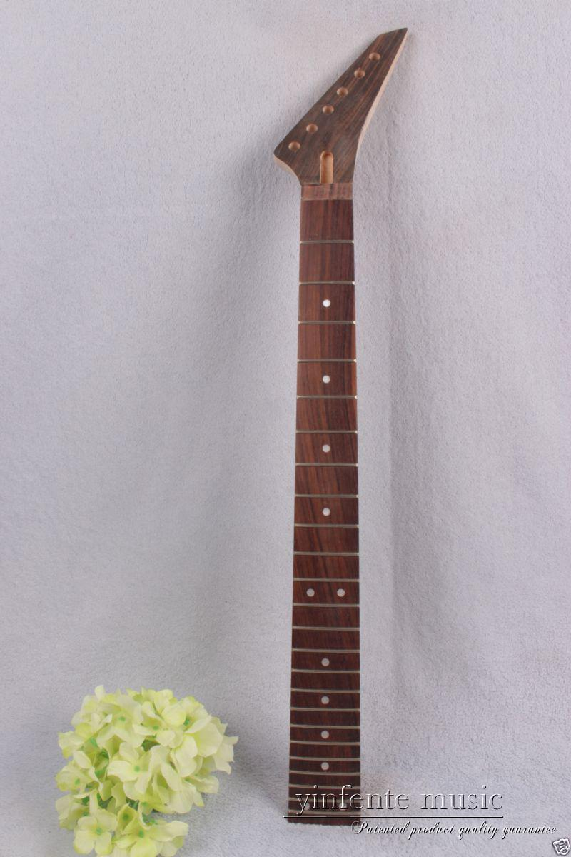 New electric guitar neck maple 24 fret 25.5'' rose Paste Paper Truss Rod #757 new electric guitar neck maple 24 fret 25 5 truss rod unfinished no frets nice