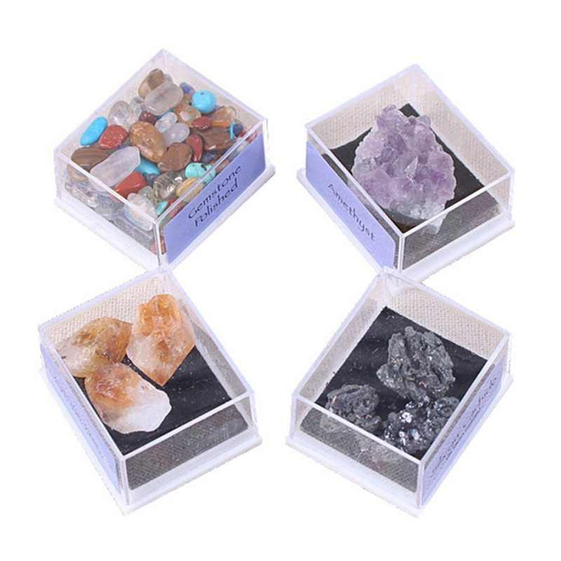 """Новинка 1 упаковка коллекция микс драгоценных камней кристаллы натуральный минеральный руды образцы драгоценных камней с коробкой домашний декор """"сделай сам"""" украшения хороший подарок"""