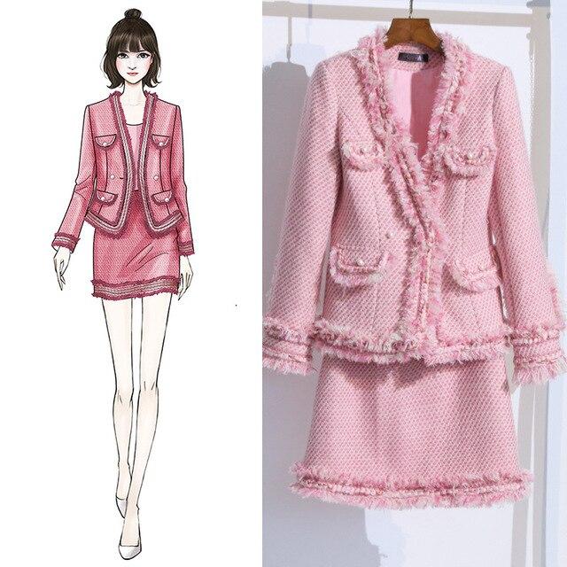 98387e6ce Korean Fashion Autumn Winter Clothes Women 2018 Sweet Pink Wool ...