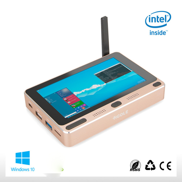 "Pocket PC Windows 10 Home Intel Cherry trail Z8300 5"" Mini PC 4GB RAM 64GB ROM with USB3.0 Dual-Band WIFI Set Top TV Bluetooth 1"