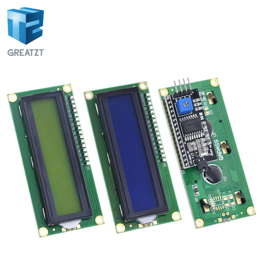 GREATZT  LCD Module Blue Green Screen IIC/I2C 1602 For Arduino 1602 LCD UNO R3 Mega2560 LCD1602