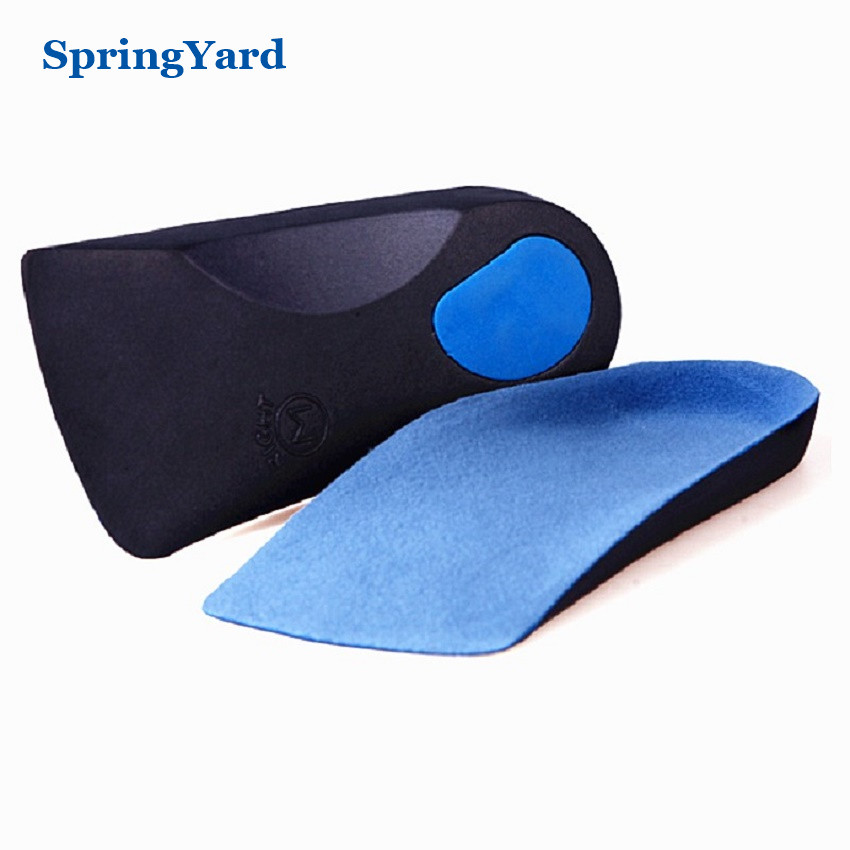 SpringYard EVA Flat Foot Orthotics Arch Support Half Shoe Pad Orthopedic Insoles Foot Care for Men Women
