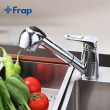 Frap kitchen faucet pull out sink Modern Style Cold And Hot water mixer taps Single Handle Stretch Outlet Pipe