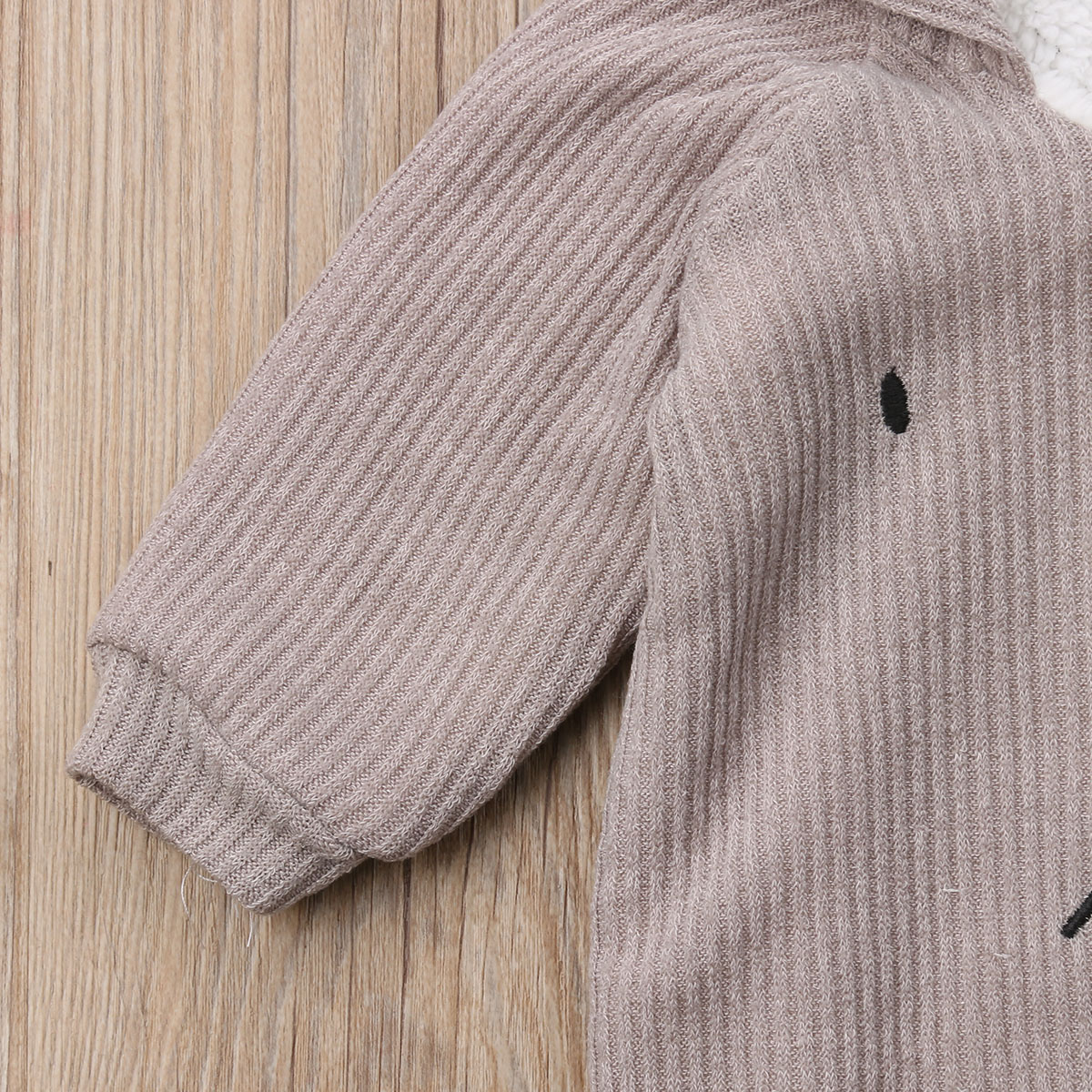 2609d98ff Pudcoco Cute Newborn Baby Boy Girl Autumn Winter Clothes Long Sleeve Bunny  Ear Hooded Romper Jumpsuit Warm Outfits Baby Clothing