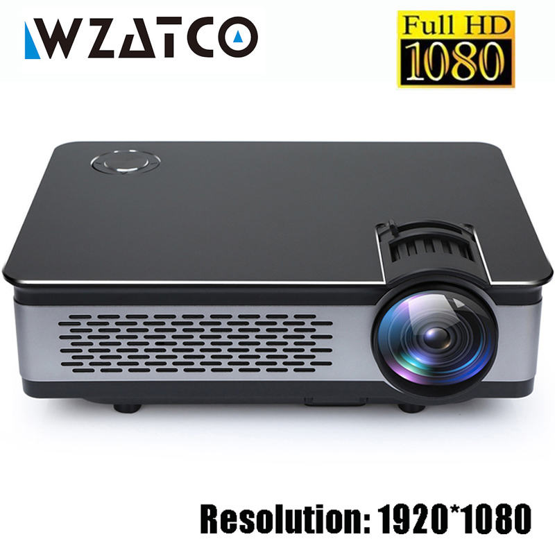 WZATCO CT580 Echt Full HD Projektor 1080 p 1920*1080 3800 Lumen HDMI Home Theatre Android 7.1 Projektoren WIFI Beamer LCD Proyector