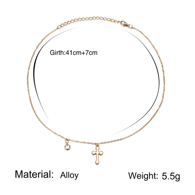 Charm Necklace Women Gold...