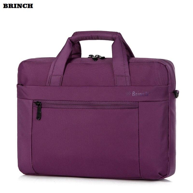 BRINCH 13 14 Inch Laptop Handbag For Men Women Travel Bussiness Notebook Bag Large Capacity Computer Briefcase Shoulder Bags