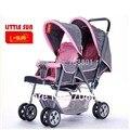 Carrinho de bebê, Little gêmeos san carrinho carrinho de bebê / transporte, 3-posição do encosto, Desconfortável luz ultra flexível carrinho de criança